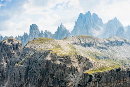 The Dolomites mountains.