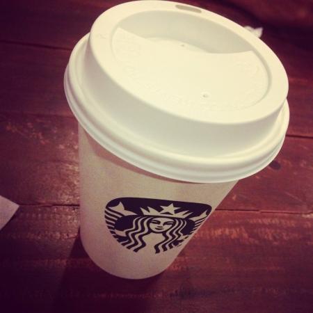 starbucks: latte from Starbucks
