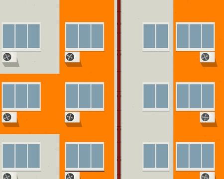 Bloque de viviendas - edificio de apartamentos de fondo