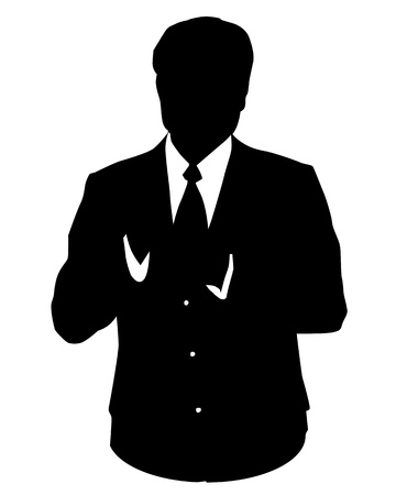 men suit: Graphic illustration of man in business suit as user icon, avatar