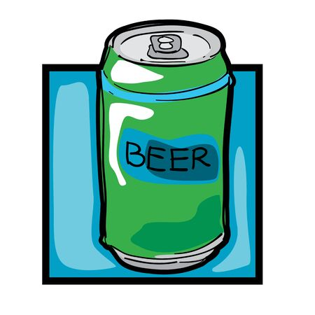 beer can: Classic clip art graphic icon with beer can