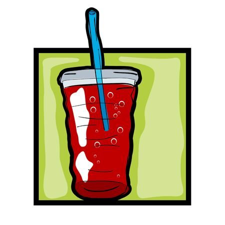 Classic clip art graphic icon with fresh soda