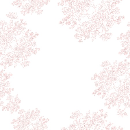 seamless retro pattern with rococo flowers, shabby chic romantic motif for wedding or baby room Illustration