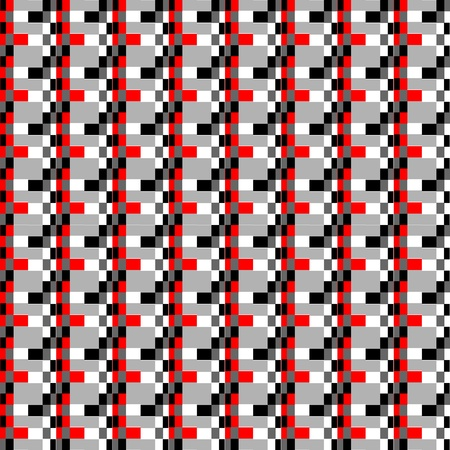 geometric pixels pattern, graphic motiv of basic video games of the eighties  Vector