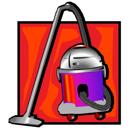 retro vacuum cleaner clip art Vector