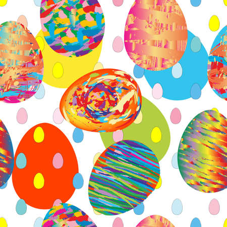 seamless artistic pattern with painted eggs Stock Vector - 12489413