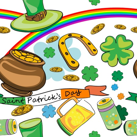 Saint Patrick pattern Vector