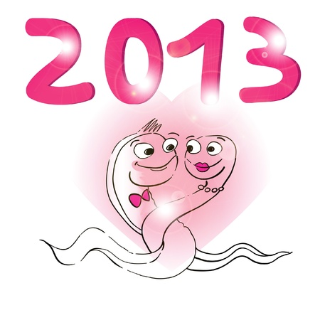 2013 year of the snake Stock Vector - 16188873