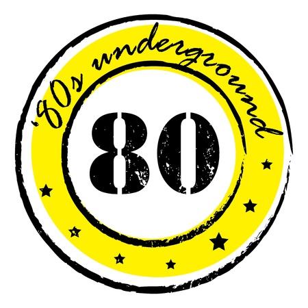 vj: parte retro musica bollo per un night club o bar, tenuta sotterranea anni ottanta con il design pop