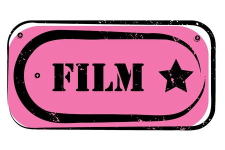 retro film stamp for a cinema, night club or bar, seal with pop art design Vector