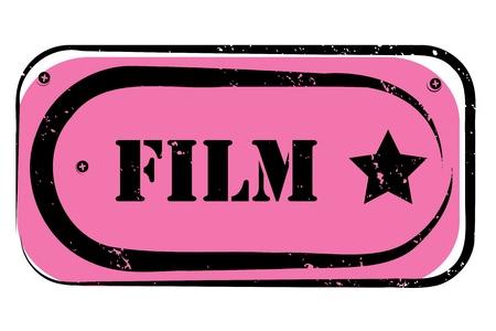 vj: retro film stamp for a cinema, night club or bar, seal with pop art design Illustration