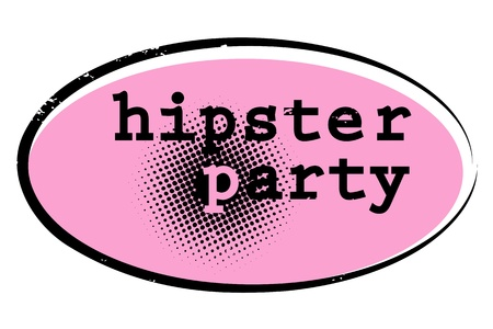 retro stamp for a night club or bar, hipster party seal with pop art design Vector