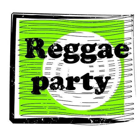 vj: parte retro musica bollo per un night club o bar, tenuta il reggae con il design pop art