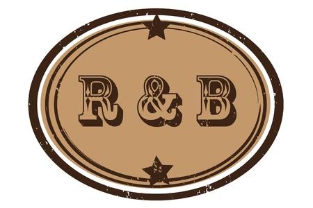 vj: parte retro musica bollo per un night club o bar, il ritmo n 'blues, timbro sigillo con il design pop art