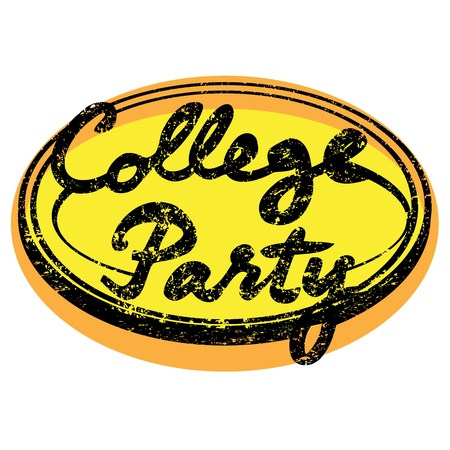 college party retro stamp isolated on white Stock Vector - 18681034
