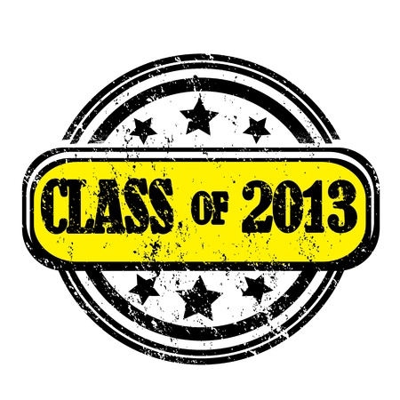 Class of 2013 grungy stamp isolated on white Vector