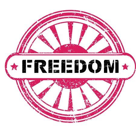 briliance: Freedon retro stamp with stars isolated on white