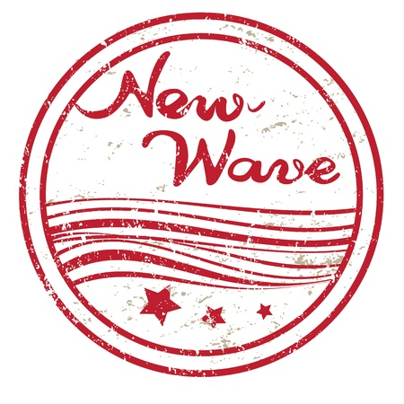 New wave grungy stamp isolated on white, retro seaside commercial appereance Stock Vector - 20237555