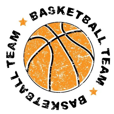 Basketball équipe grungy timbre isolé sur blanc