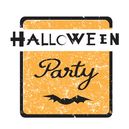Halloween party hand drawn illustration of an elegant grungy seal, vintage design element isolated on white Vector