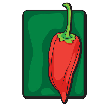 Chilli pepper clip art, hand drawn cartoon ilustration isolated on white Vector