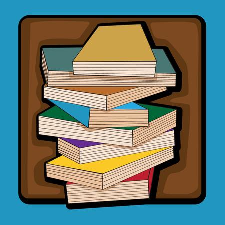 clip art: Mano disegnato Clip art con i libri pi� blu Vettoriali