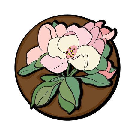Apple tree flower clip art isolated on white Vector