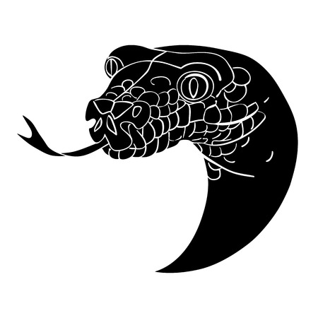 coldblooded: Snake head avatar, Chinese zodiac sign, Illustration
