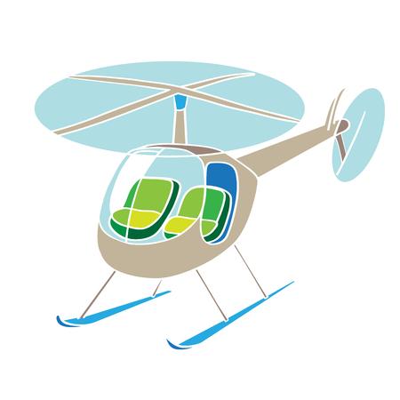 clip art: Elicottero clip art illustrazione isolato su bianco Vettoriali