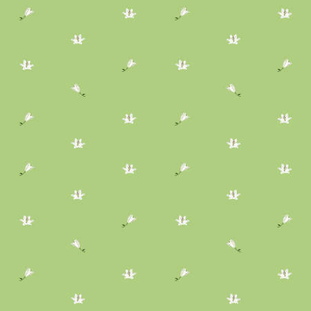 sparse: Lilies sparse pattern over light green