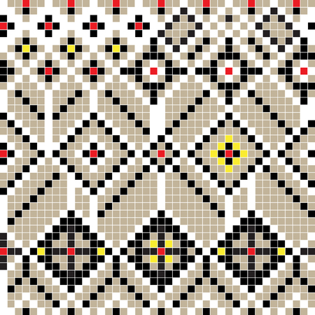 freestyle: Freestyle pixel pattern inspired by a balkan traditional motif