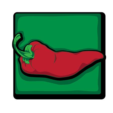 clip art de poivre rouge, bande dessinée illustration isolé sur blanc Vecteurs