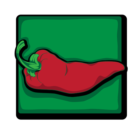 Rode peper illustraties, cartoon afbeelding op wit wordt geïsoleerd