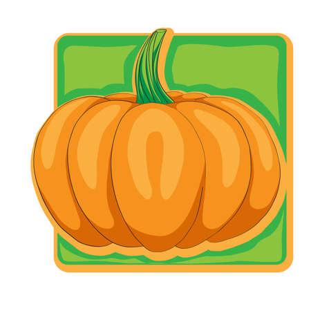 illustation: Pumpkin clip art, cartoon illustation isolated on white