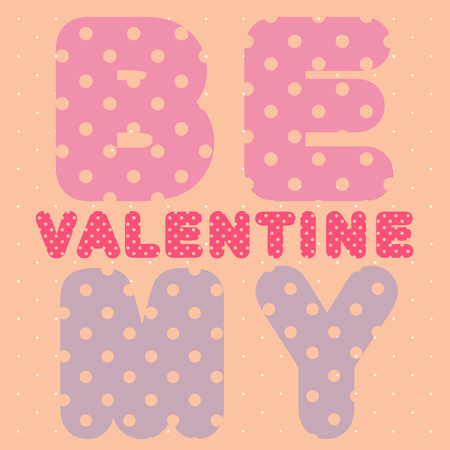 skintone: Valentines Day card with stencil text over a perforated background with dots