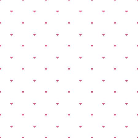 Seamless avec rose petits coeurs isolé sur blanc