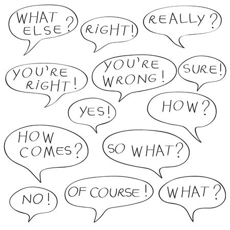 speech bubble series Illustration