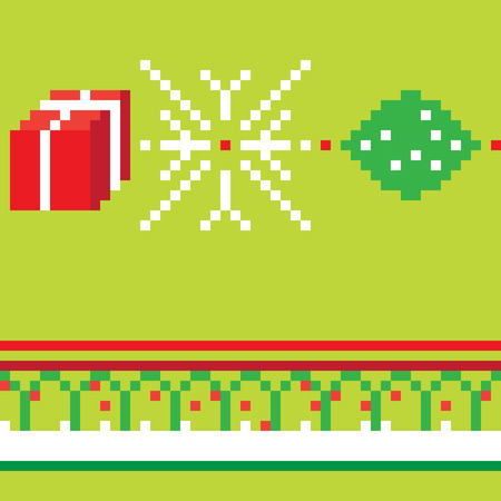 christmas motif: Christmas pixel seamless pattern, illustration of a composition with digital graphic motif