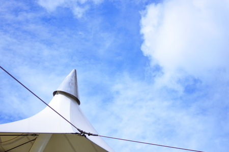 White roof and Blue Sky