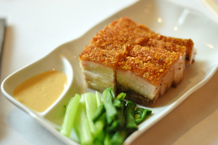 Crispy Pork Chinese Stock Photo