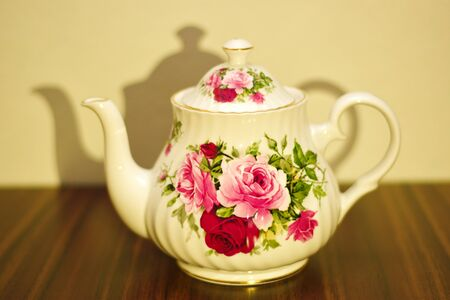 cupcakes isolated: Flower Tea Pot