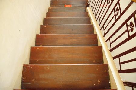 Wooden Stair Zdjęcie Seryjne