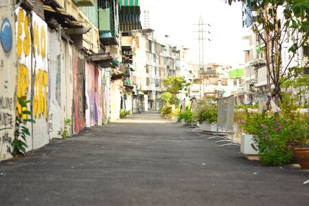Straight Line in Street Art , Bangkok , Thailand