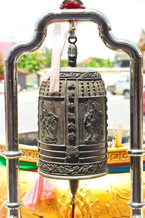 Chinese Bell in the Temple