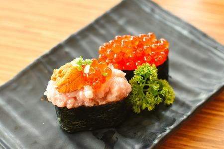 Ikura Nigiri Stock Photo