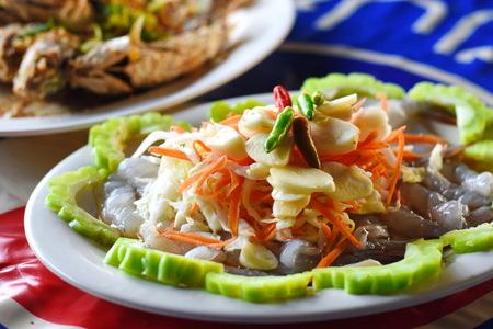 plato del buen comer: shrimp in fish sauce