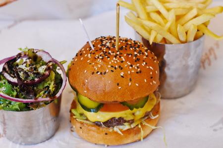 Chesses burger food Stock Photo