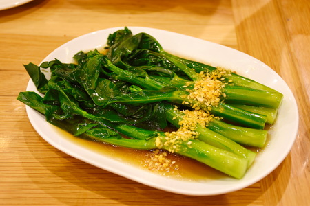 Kale fried in oyster sauce