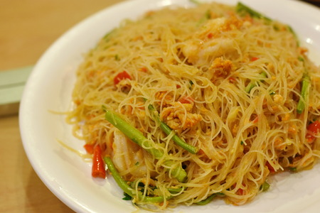 Fried Spicy Rice Vermicelli With Shrimp