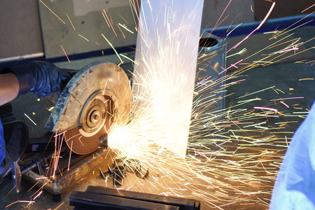 fire cutting iron